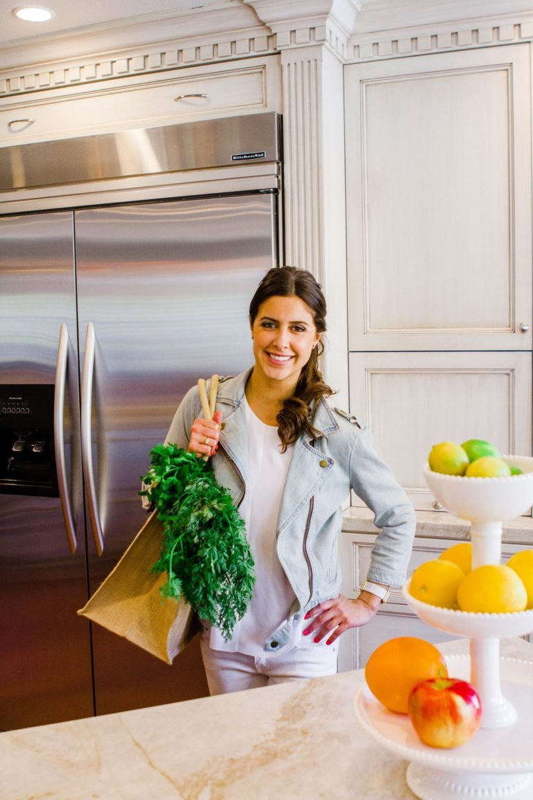 Fertility Nutritionist posing for magazine photoshoot