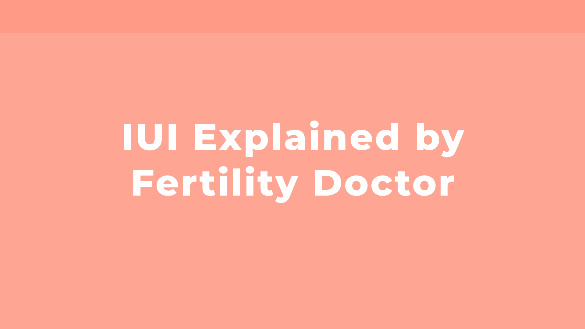 What is IUI? Explained by fertility doctor