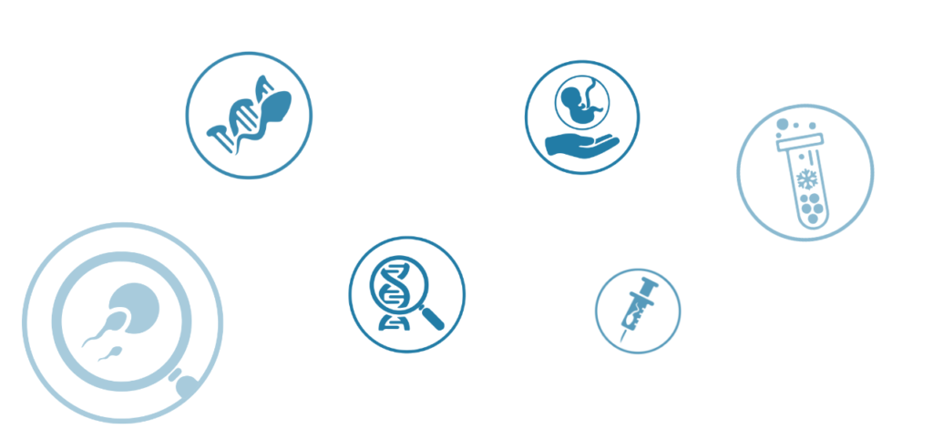 PGT Fertility treatment icons