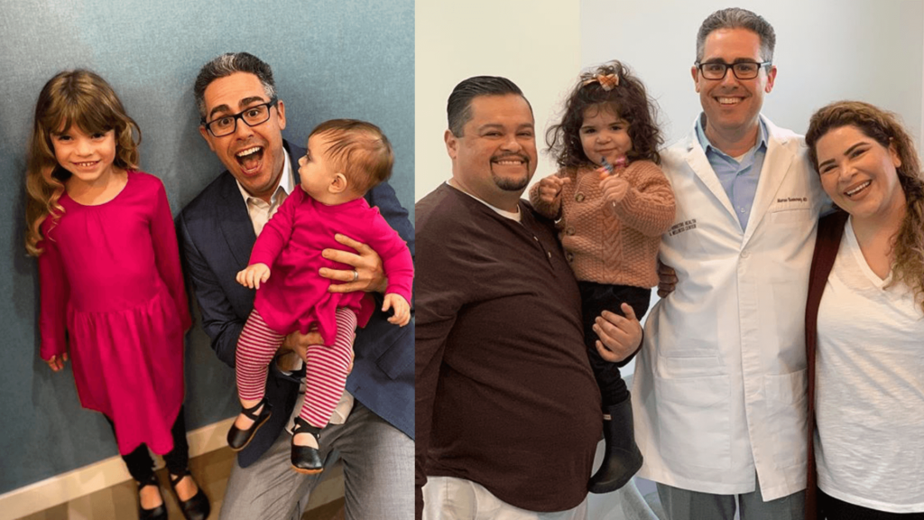 Fertility doctor with IVF babies