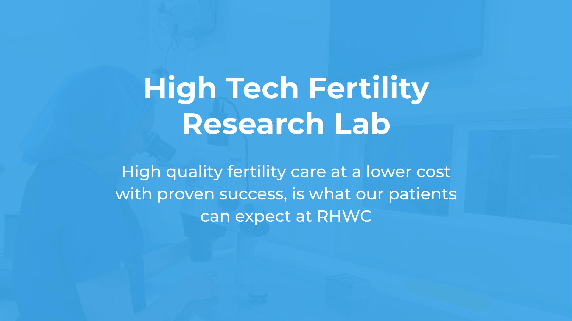 High tech fertility research lab